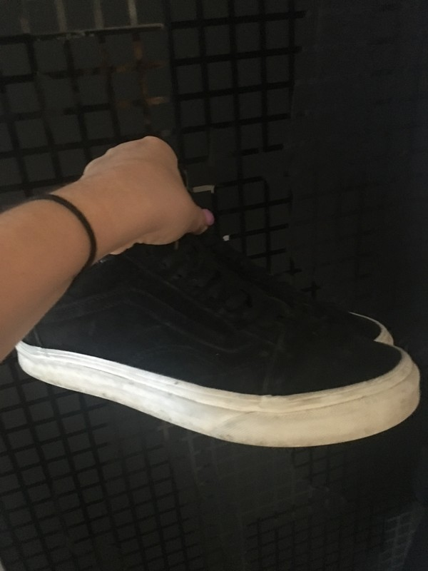 vans sneakers noires semelle blanche