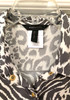 New BCBG Animal Print Button Up Collared Blouse 6