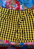 Abbey Dawn yellow & black plaid mini skirt  6