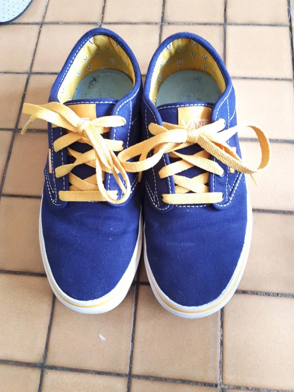 Vans bleu et jaune - Vinted