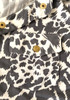New BCBG Animal Print Button Up Collared Blouse 16