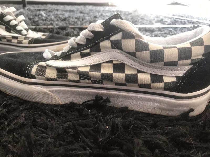 Basket vans à carreaux noir et blanc pointure 38,5 - Vinted