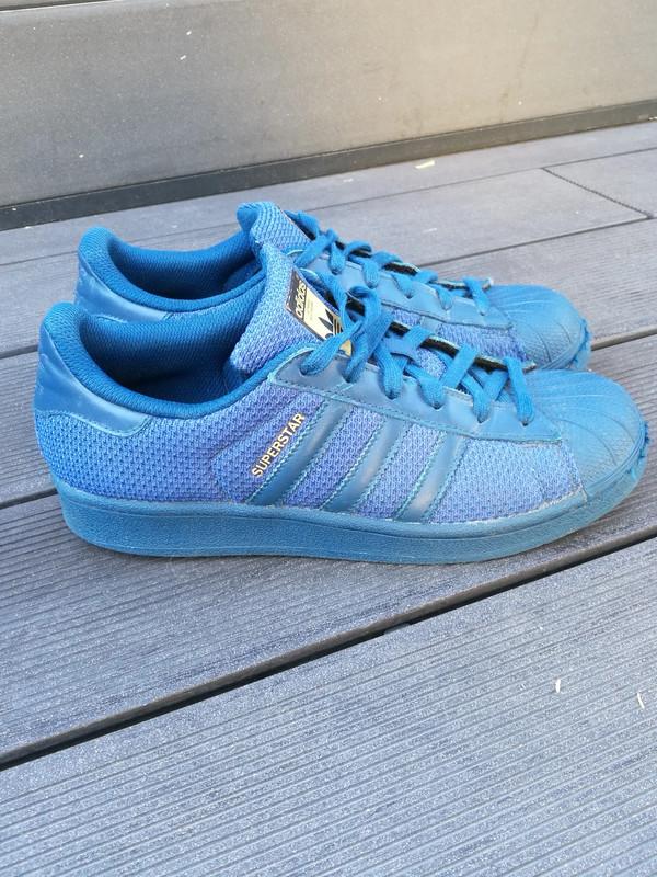 Baskets Adidas superstar nylon bleu