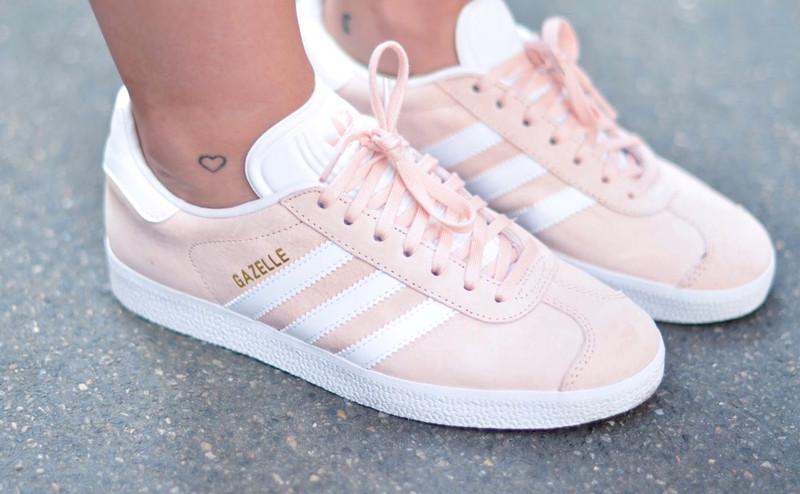 Basket Adidas gazelle rose pâle