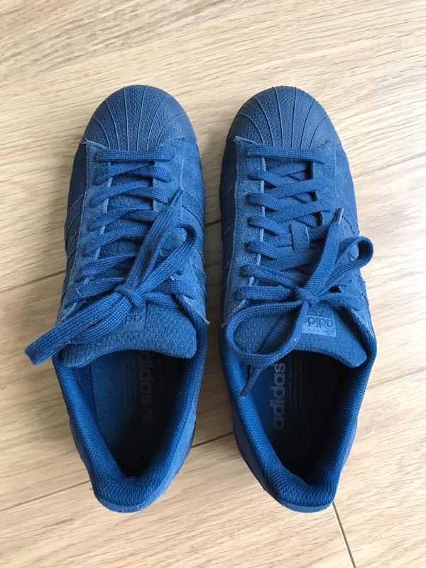 Adidas superstar daim bleu marine