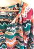 Lucky Brand Sz Large Alexis Peasant Blouse - Multicolor, Ikat, Boho, Colorful, L 7