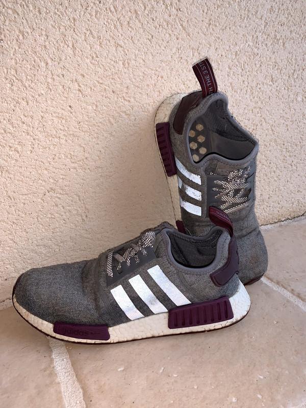Adidas Nmd R1 grises et bordeaux
