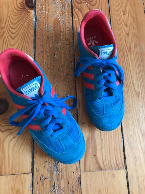 Baskets adidas dragon rouge et bleu