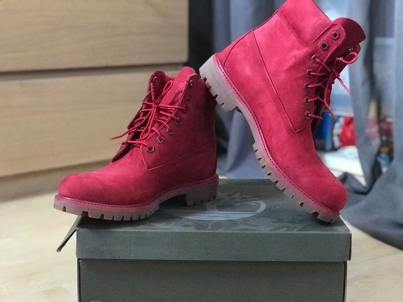 chaussures timberland hommes rouge