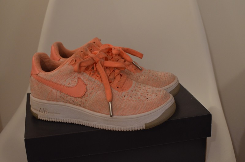 Nike Air Force 1 flyknit rose saumon
