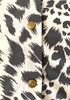 New BCBG Animal Print Button Up Collared Blouse 17