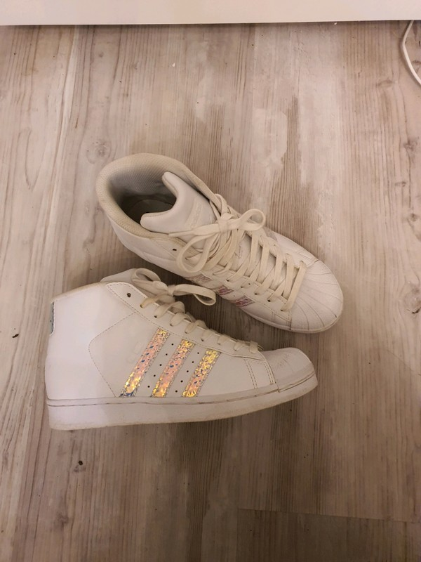 Adidas Superstar montantes blanches