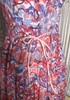 Small-Free People Pink/Purple Floral/Sequin/Beaded Neckline Halter Dress 6