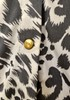 New BCBG Animal Print Button Up Collared Blouse 20