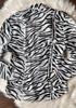 Vintage zebra print button down shirt  7