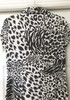 New BCBG Animal Print Button Up Collared Blouse 9