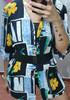 Vintage stara kolorowa 🖤🖤 bluzka Astra 🖤🖤 cudne guziki 🖤🖤 3 koszule w cenie 35 zł 8