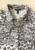 New BCBG Animal Print Button Up Collared Blouse 11