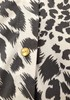 New BCBG Animal Print Button Up Collared Blouse 7